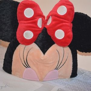 Vintage Disney Minnie Mouse Ears Plush Adult Hat